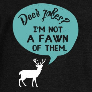 Deer Jokes? I'm not a FAWN of them. - Women's Wideneck Sweatshirt