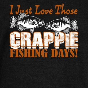 CRAPPIE FISHING DAY SHIRT - Women's Wideneck Sweatshirt