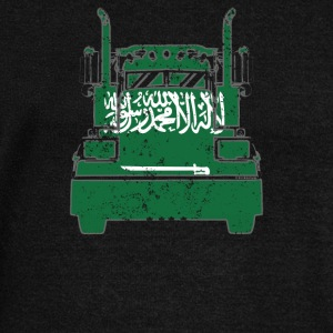 Saudi Arabian Trucker Shirt Saudi Arabia Flag Trucker Shirt - Women's Wideneck Sweatshirt