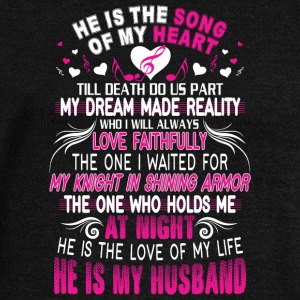 He Is My Husband T Shirt - Women's Wideneck Sweatshirt