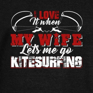I Love When My Wife Let Me Go Kitesurfing Shirt - Women's Wideneck Sweatshirt