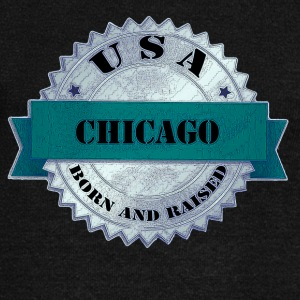 Chicago Born and Raised USA - Women's Wideneck Sweatshirt