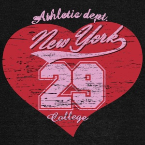 T Shirt heart New York vector image vintage funny - Women's Wideneck Sweatshirt