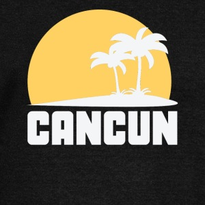 Cancun Mexico Sunset Palm Trees Beach - Women's Wideneck Sweatshirt