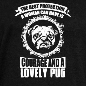 LOVELY PUG SHIRT - Women's Wideneck Sweatshirt