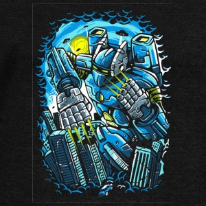 Destroy The City. The Horrible Robot Attack. - Women's Wideneck Sweatshirt