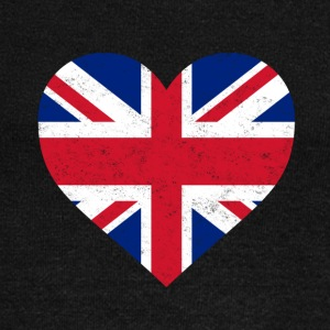 UK Flag Shirt Heart - Brittish Shirt - Women's Wideneck Sweatshirt