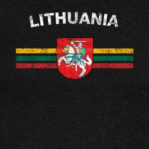Lithuanian Flag Shirt - Lithuanian Emblem & Lithua - Women's Wideneck Sweatshirt