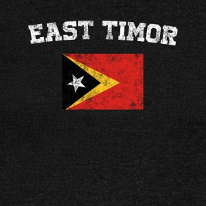 East Timorese Flag Shirt - Vintage East Timor T-Sh - Women's Wideneck Sweatshirt