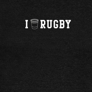 I drink beer and play rugby t shirt - Women's Wideneck Sweatshirt