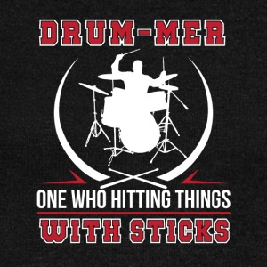 Drummer One Who Hitting Thing With Stick - Women's Wideneck Sweatshirt