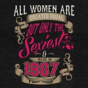 Women Created Equal Only Sexiest Are Made In 1987 - Women's Wideneck Sweatshirt