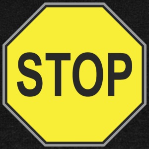 Road_sign_yellow_stop - Women's Wideneck Sweatshirt