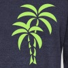 Palm Tree / Tattoo Style / Vector / - Women's Wideneck Sweatshirt