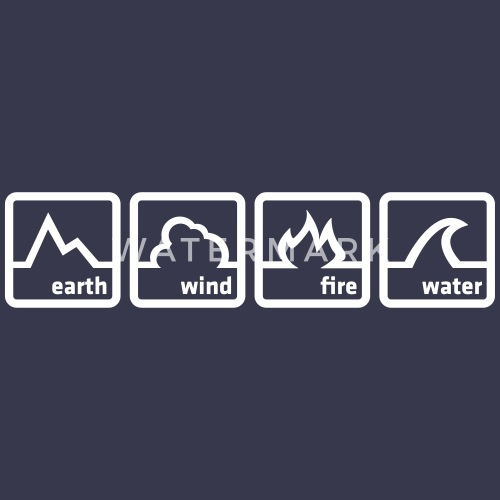 Earth Wind Fire Water By Custom T Shirts Spreadshirt