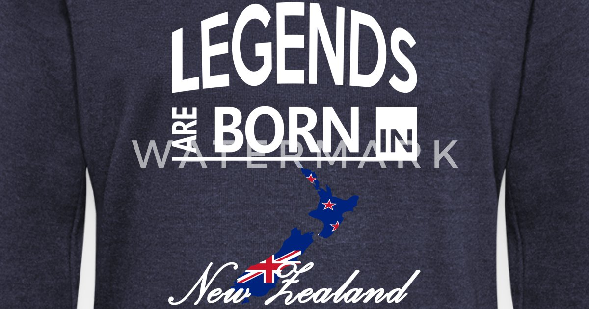 Womens Wide Neck SweatshirtNew Zealand Born Legends Cool Funny Birthday Gift