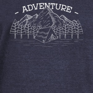 Adventure Mountains Forest Great Outdoors - Women's Wideneck Sweatshirt