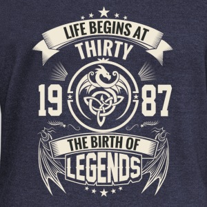 The Birth of Legends 1987 - Women's Wideneck Sweatshirt