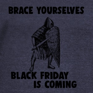 Black Friday is coming war warrior shopping - Women's Wideneck Sweatshirt