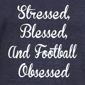 Stresed blessed and football obsessed shirts - Women's Wideneck Sweatshirt