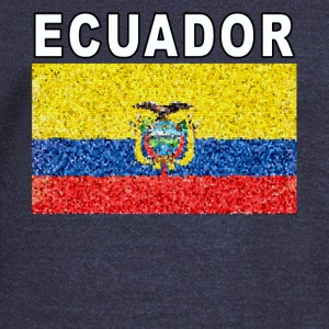 Ecuador Flag Deluxe High Detail National Design - Women's Wideneck Sweatshirt