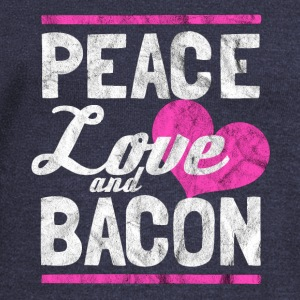 Peace, love and bacon - Gift for bacon lover - Women's Wideneck Sweatshirt