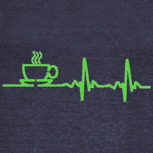 Morning Coffee Heartbeat EKG - Women's Wideneck Sweatshirt