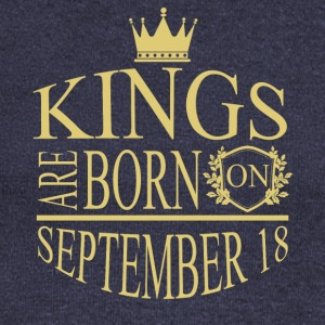 Kings are born on September 18 - Women's Wideneck Sweatshirt