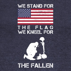 We Stand For The Flag We Kneel For The Fallen Shir - Women's Wideneck Sweatshirt