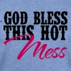 Country Thang-God Bless This Hot Mess - Women's Wideneck Sweatshirt