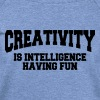 Creativity is intelligence having fun - Women's Wideneck Sweatshirt