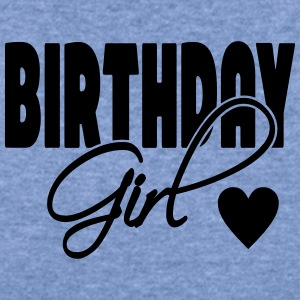Birthday Girl with heart - Women's Wideneck Sweatshirt