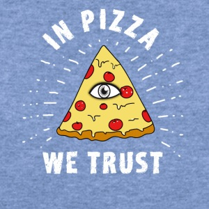 pizza illuminati Eye Pyramide Humor fun fastfood - Women's Wideneck Sweatshirt