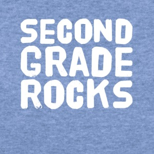 Second grade rocks - Women's Wideneck Sweatshirt