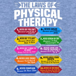 The Laws Of Physical Therapy Awesome Therapist - Women's Wideneck Sweatshirt