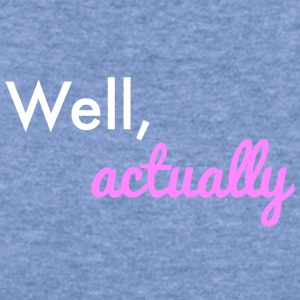 Well Actually: Mansplaining - Women's Wideneck Sweatshirt