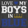Love My Boys In Blue - Men's V-Neck T-Shirt by Canvas