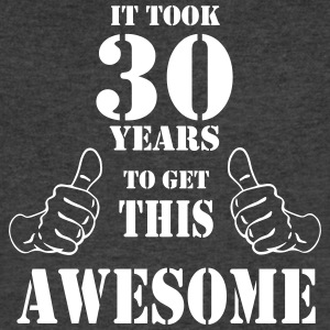 30th Birthday Get Awesome T Shirt Made in 1987 - Men's V-Neck T-Shirt by Canvas