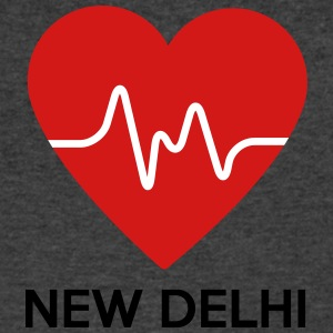 Heart New Delhi - Men's V-Neck T-Shirt by Canvas