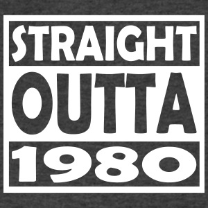 37th Birthday T Shirt Straight Outta 1980 - Men's V-Neck T-Shirt by Canvas