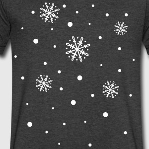 Snowflakes, winter - Men's V-Neck T-Shirt by Canvas