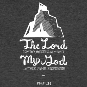 Psalm 18:2 - Men's V-Neck T-Shirt by Canvas