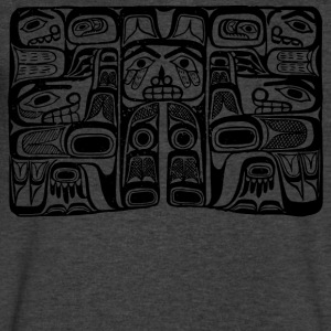 Haida Block Print - Men's V-Neck T-Shirt by Canvas
