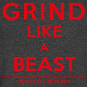 It's A Mindset - GrindLike A Beast Red - Men's V-Neck T-Shirt by Canvas