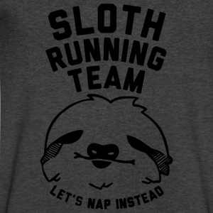 Sloth Running Team Lazy Sloth Ask Me Why Funny Cos - Men's V-Neck T-Shirt by Canvas