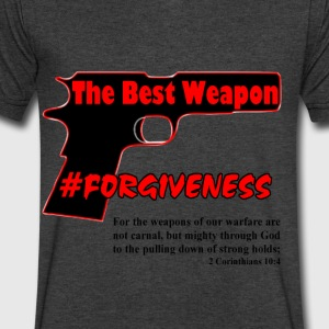 Forgiveness Black & Red - Men's V-Neck T-Shirt by Canvas