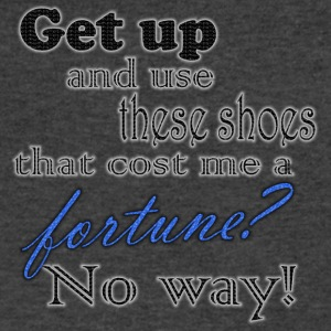 get up and use these shoes? - Men's V-Neck T-Shirt by Canvas