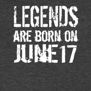 Legends are born on June 17 - Men's V-Neck T-Shirt by Canvas