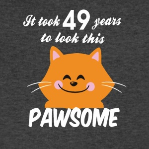 It took 49 years to look this pawsome - Men's V-Neck T-Shirt by Canvas