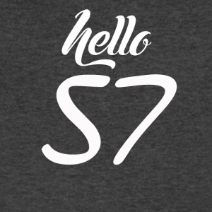 Hello 57 - Men's V-Neck T-Shirt by Canvas
